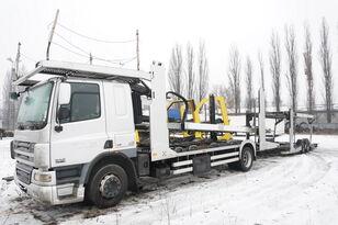 autotreiler veoauto DAF CF 75 360 , E5 , 4x2 ,MEGA , LOHR , retarder , sleep cab + autotreiler haagis