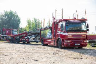 autotreiler veoauto DAF Trailer FA CF75 + autotreiler haagis