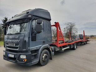 autotreiler veoauto IVECO Eurocargo 140E28 + autotreiler haagis