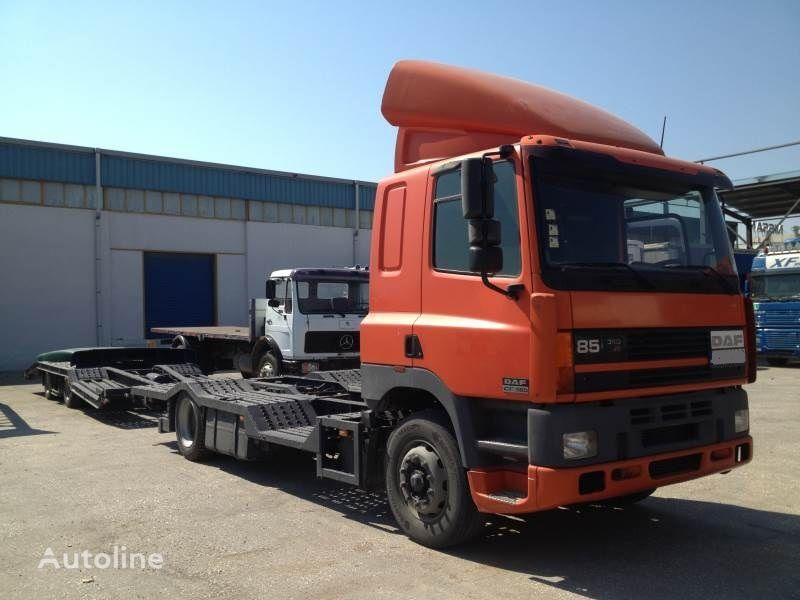 autotreiler veoauto DAF CF85.380 ATI EURO2 TRUCK / TRACTOR TRANSPORT + TANDEM + autotreiler haagis