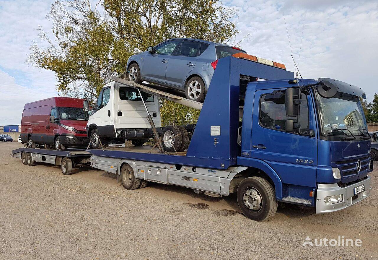 autotreiler veoauto MERCEDES-BENZ ATEGO 1022, auto transporters + autotreiler haagis