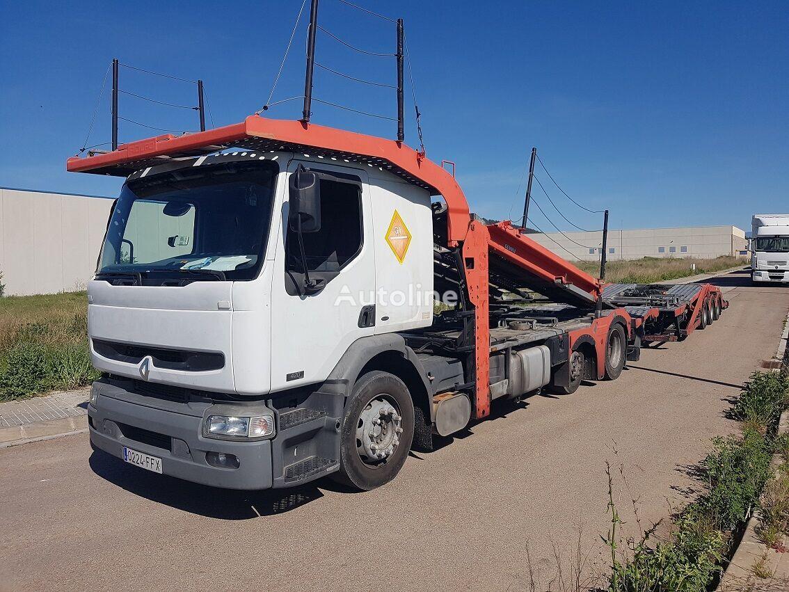 autotreiler veoauto RENAULT PREMIUM 420.18 + autotreiler haagis