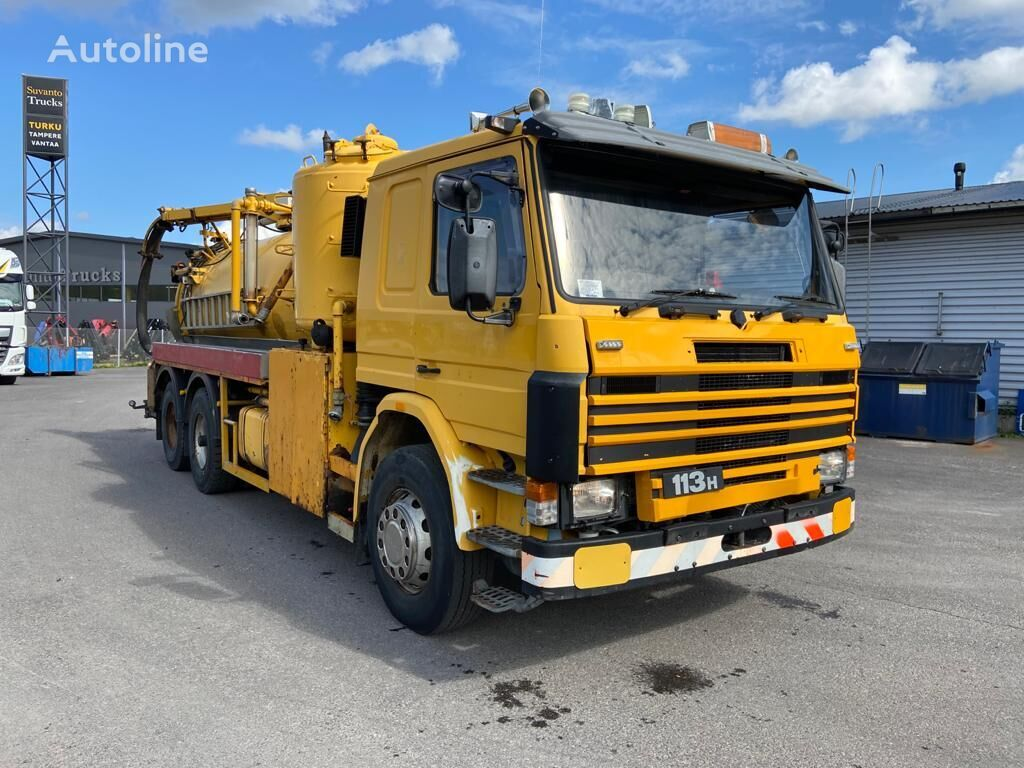 autotsistern veoauto SCANIA P113 320 hp 6x2 vacuum / tank truck full steel