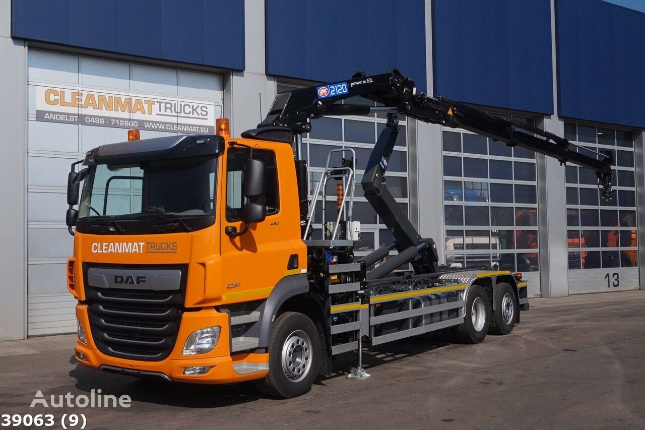 konkslift veoauto DAF FAN CF 430 HMF 21 ton/meter laadkraan