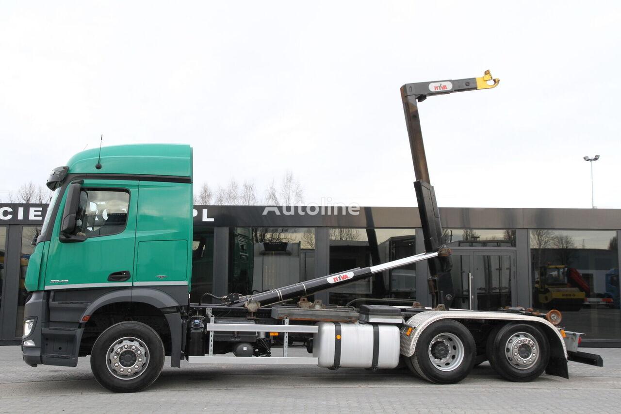 konkslift veoauto MERCEDES-BENZ AROCS 2543/ 6x2 / e6 / hook lift / new engine 1k km !