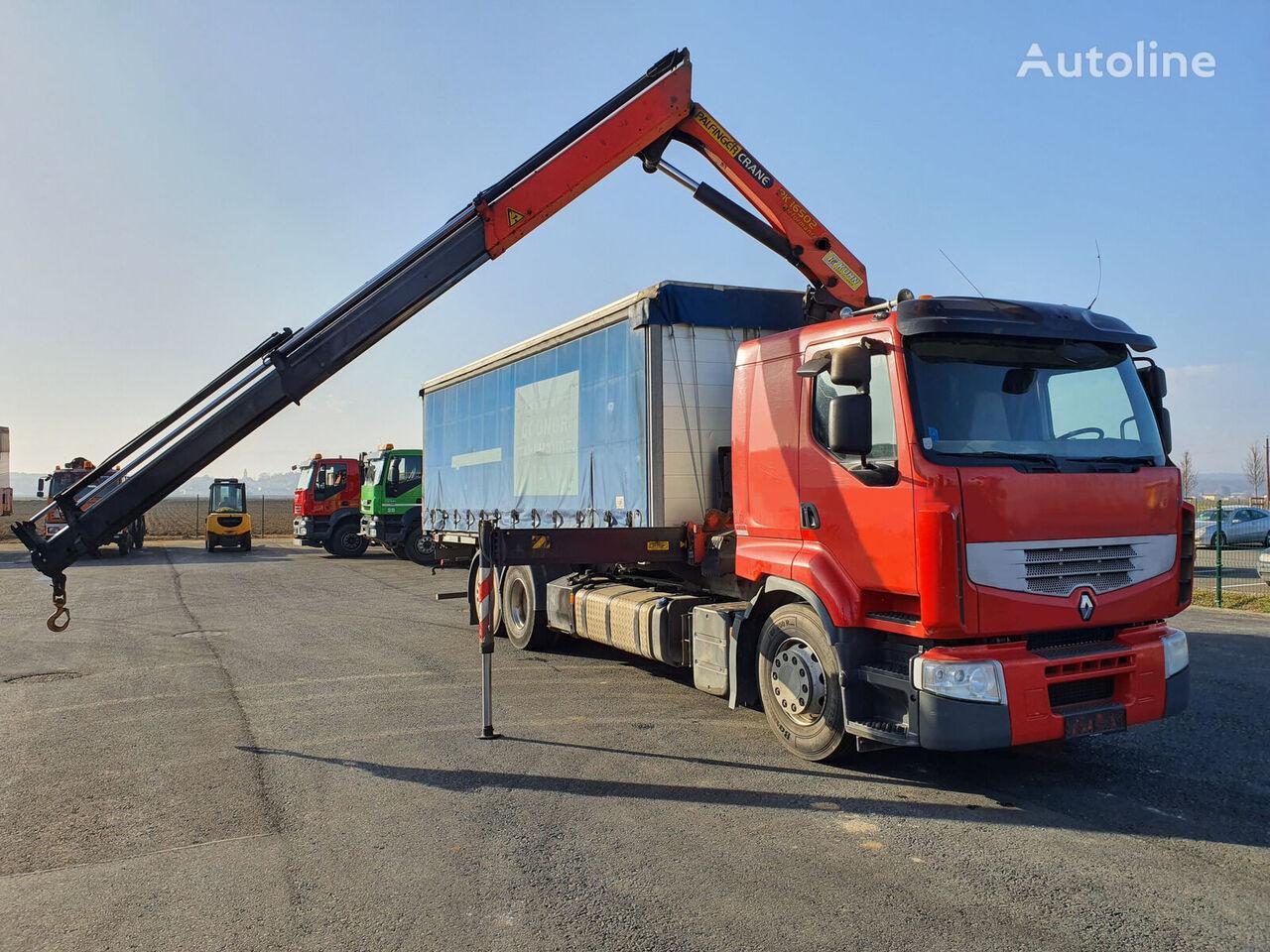 konteiner vedu veoauto RENAULT Premium 450.26 6x2 Euro 5 Palfinger PK 16502 WAP