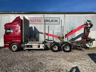 metsaveok veoauto SCANIA R580, 6x4 + CRANE, EURO6, RETARDER