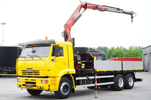 parda veoauto KAMAZ 65117 , 6x4 , Crane Fassi 95 , rotator , box 6m