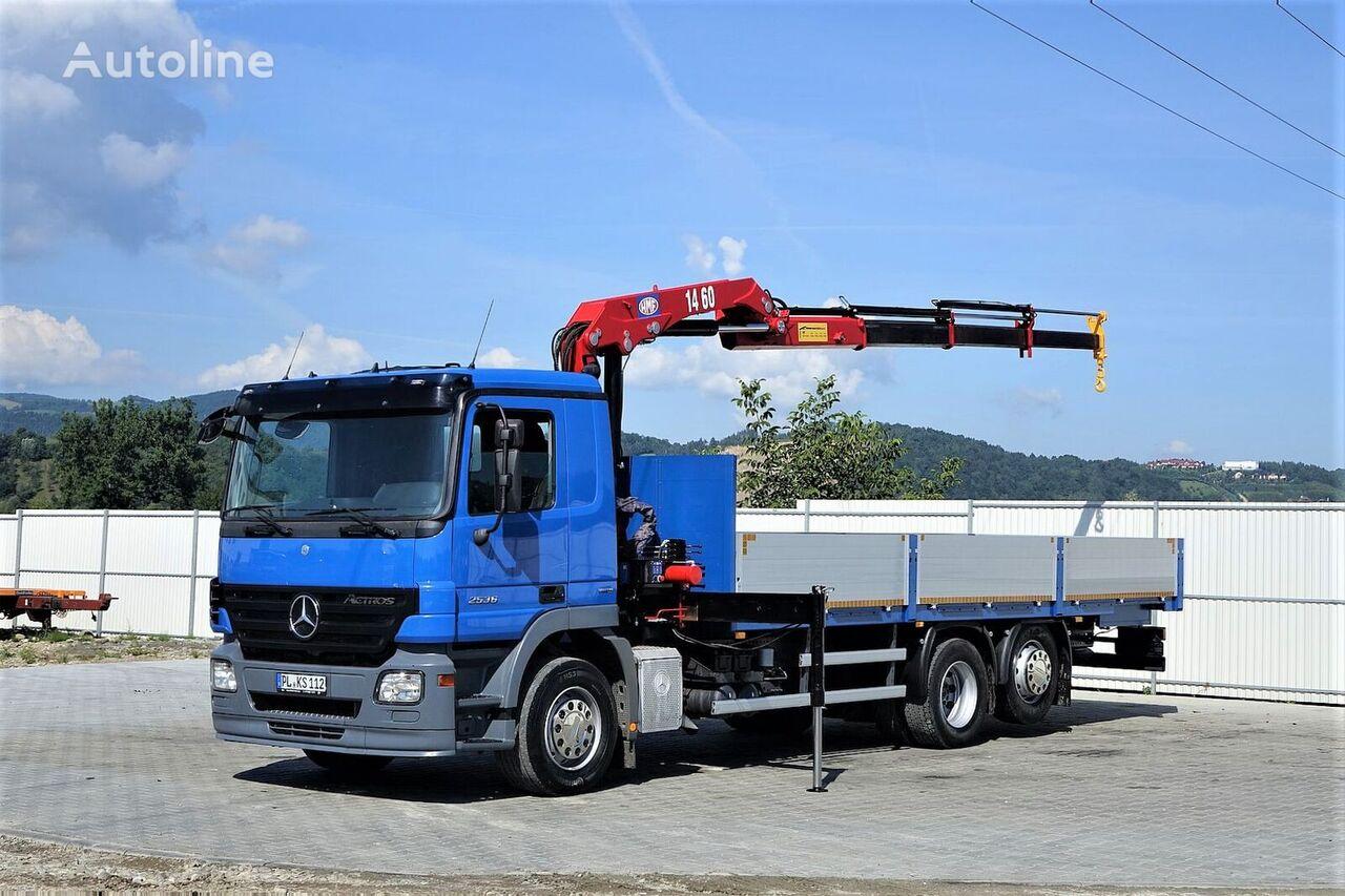 parda- veoauto MERCEDES-BENZ Actros 2536 Pritsche 7,50m+ Kran*Topzustand!