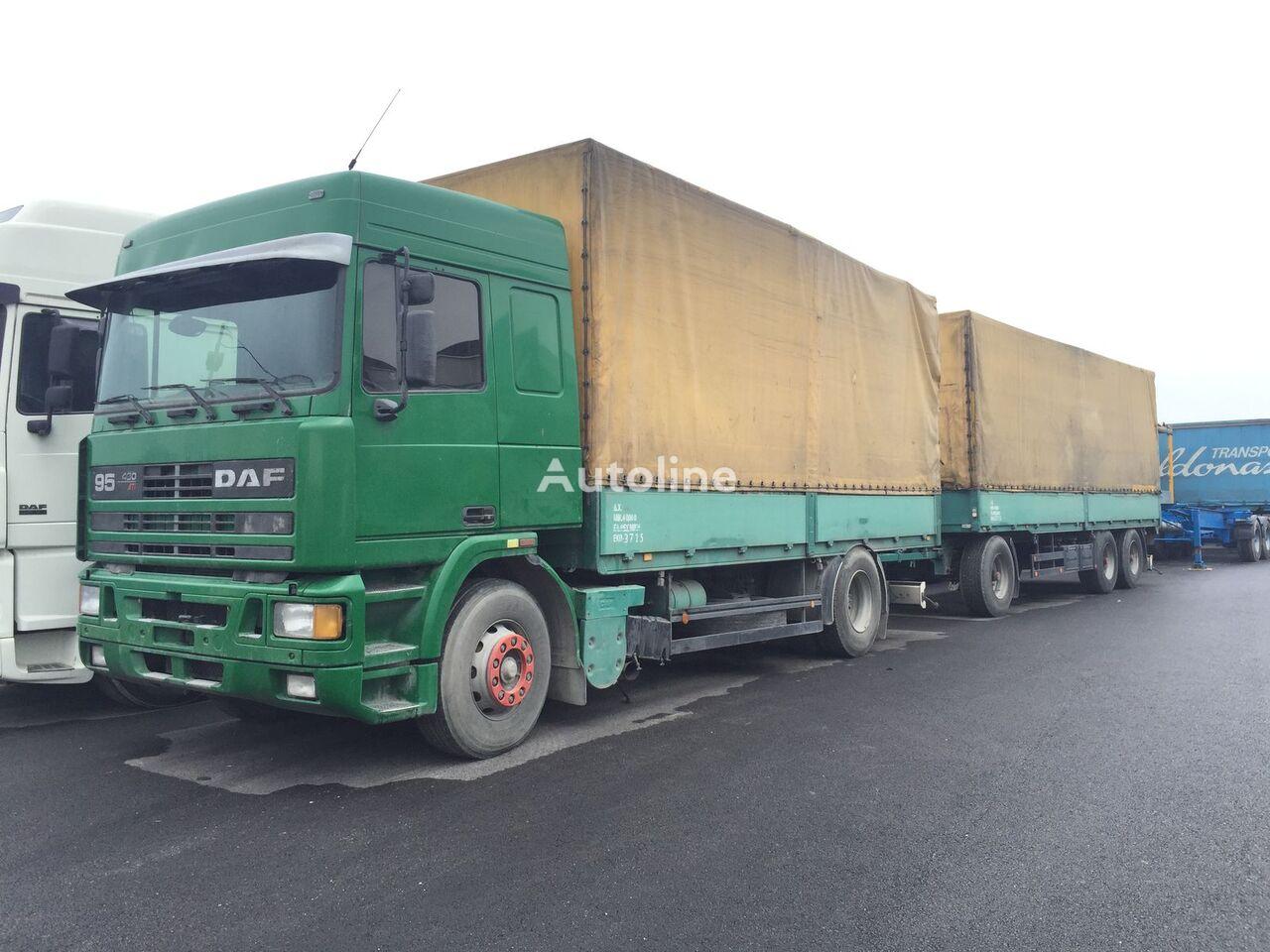 tent veoauto DAF 95.430 ATI EURO2 + SCHARZMULLER + tent haagis