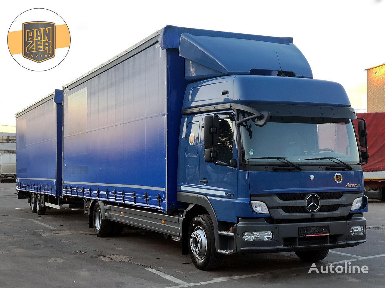 veoauto kardin MERCEDES-BENZ ATEGO 1224, avtopoezd 120m3 + kardinhaagis